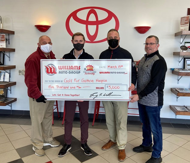 Williams Toyota of Sayre is Title Sponsor for 19th Annual Golf for Guthrie Hospice Tournament