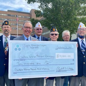 Sayre American Legion Post #283 Donates $10,000 to Guthrie's Veteran Patient Assistance Fund